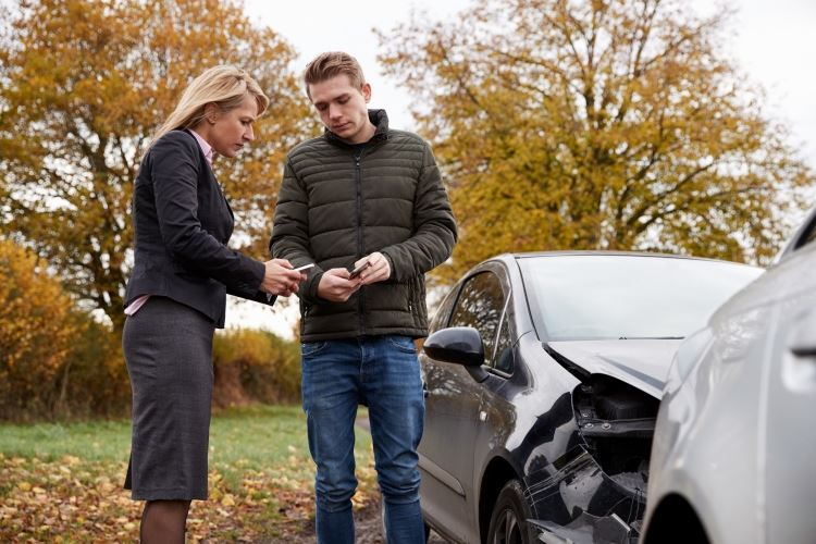 Exchanging information after a car accident